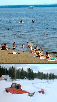 Perm city beach